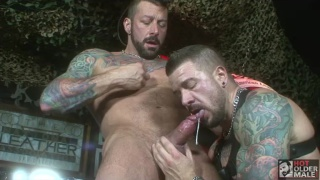 hugh hunter gets fucked by his real-life bf dolf dietrich