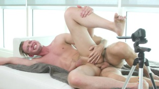 Grayson Frost spreads his ass for a juicy big dick