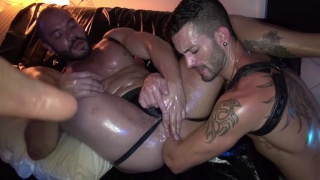 Thiago Romeo and andy star at Dark Alley Xt