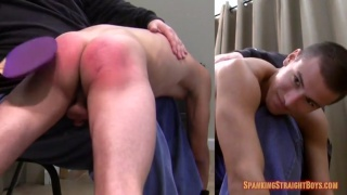 Matt Conley spanked with ping pong paddle