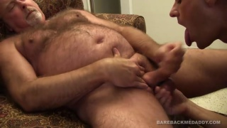 ajay hunter is hungry for daddy cock
