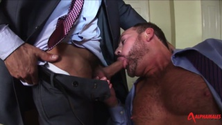 Matthew's huge long dick pleases Daniel