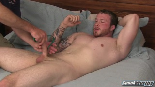 niall gets his big dick stroked by surprise