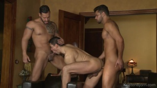 lucas follows two sexy men home