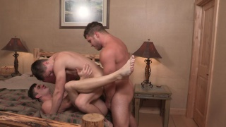 Lane, Joey and Brodie fuck in threeway