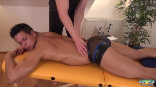 Ennio Guardi gets a massage and more from Ryan Torres