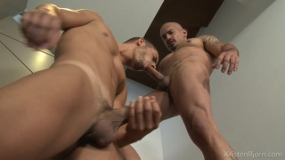 Hugo arias devours Santi noguera?s cock