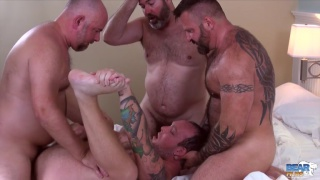 three bear daddies share a cub bottom