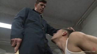 hung Stud dominates his creepy coworker