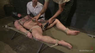 sergeant ties up and edges a private