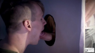 Kamyk Walker sucks dick at a glory hole