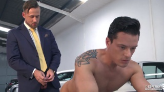 LOGAN MOORE fucks REX CAMERON over hood of car