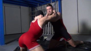 hooded wrestler loses his match