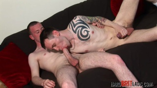 scally blows his well-hung buddy