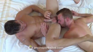 Colton tongues Oz's eager hole before fucking him