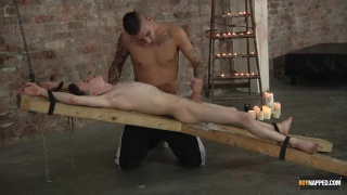 tyler jenkins finds harry tied up and waiting