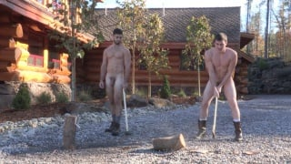 Tanner and Rowan play strip shufrfleboard