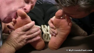 stock brocker gets tied up and tickled