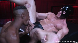 Derek Maxum fucks muscle bottom Johnny V