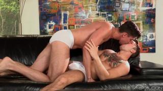 Sebastian Kross fucks Jack Hunter on the couch