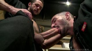 Johnny Hazzard fucks Mike De Marko in warehouse