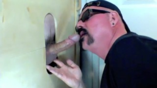 even married men can't resist a glory hole blowjob