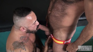 Alessio Romero bottoms bare for Vinnie Stefano