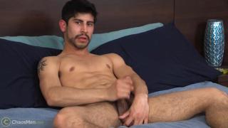 regan strokes his fat cock