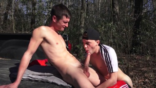 colby and parker fuck in the woods