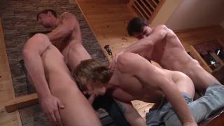 fourway orgy in backwoods bareback