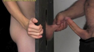 thomas gets blowjob at a glory hole