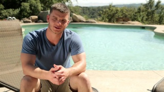 ivan james gets blown by the pool