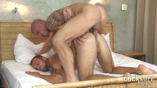 Van goes wild sucking on Max's hard cock