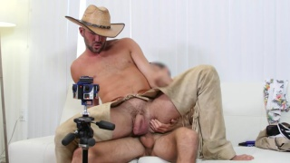 alex mason wears cowboy geat in casting video