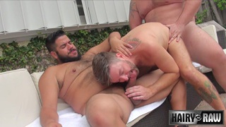 two big tops spit roast fuck jockstrap cub