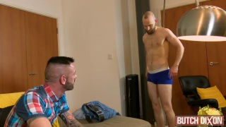 bearded ginger bottom gets fucked by porn producer