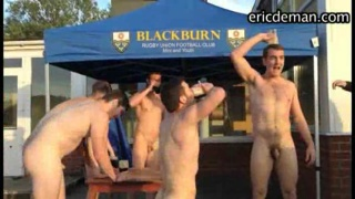 Blackburn rugby union football club's naked initiation