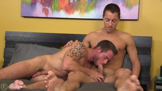 straight guy opts to bottom his first time