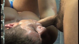 Owen Powers shoves his huge cock in Dylan Saunders