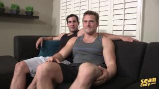 brandon takes randy's big fat cock