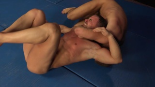 wrestlers strip naked and start their match