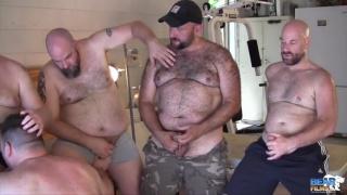 gunner scott watches a horny 5-man orgy