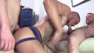 What's better than a huge cock pounding a hot ass?