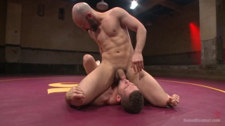 naked wrestlers Dylan Strokes and Kyle Kash on the mats