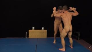 wrestling match between Erik Drda and Rosta Benecky