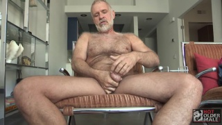 uber daddy Allen Silver jerks his cock