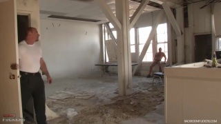 chad brock waits for ed hunter in abandoned building