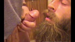 bearded hillbilly is hungry for cum