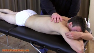 skater boy with a great body on massage table