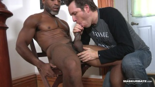 robert gets his thick 9-inch dick sucked